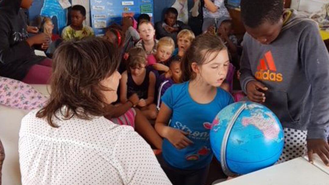 A Dutch Volunteer Visiting our School