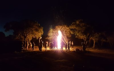 Bonfire and games evening